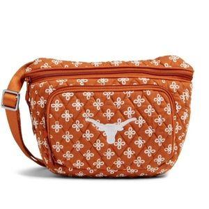 NWT Vera Bradley U Texas collegiate RFID Belt Bag